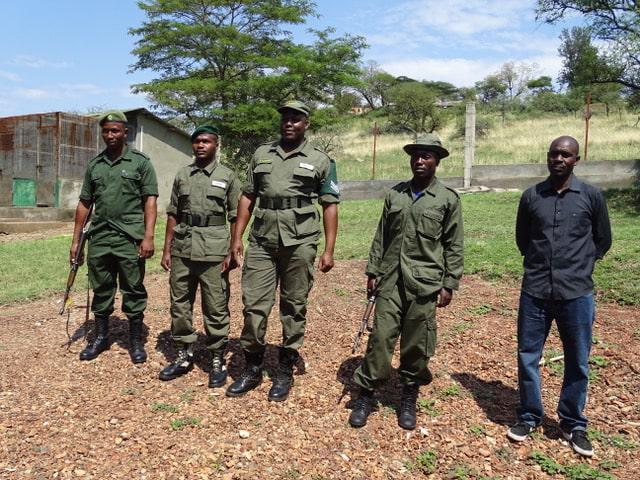 Rangers we met on the Miles for Elephants Fundraising Trek