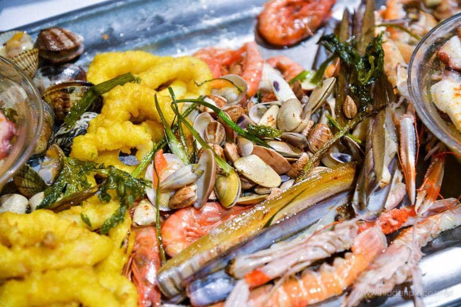 Various Sea Foods in Spain