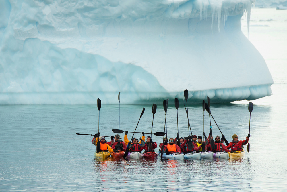 Antarctic kayaking