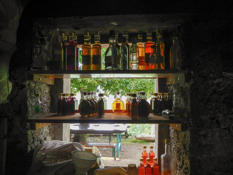 Stocks of bottles
