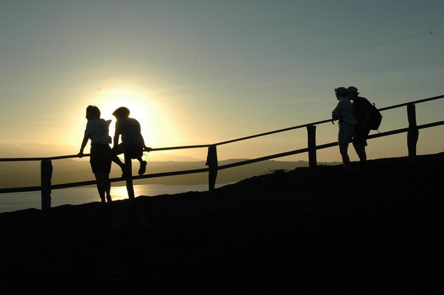 Beautiful Sunset View in Galapagos