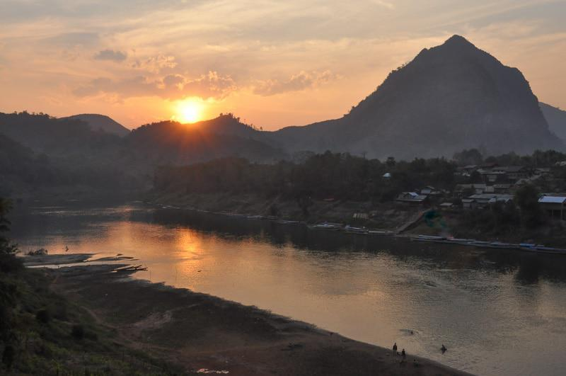 Beautiful Sunset in Indochina Tour