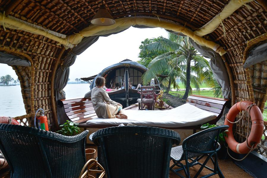 Relaxing at India Mothership