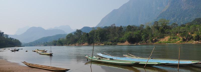Lake near the Mountain in Laos