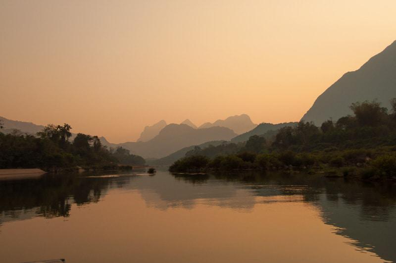 A Calm and Simple Lake in Laos