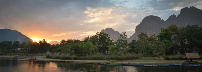 Sunset View in Laos