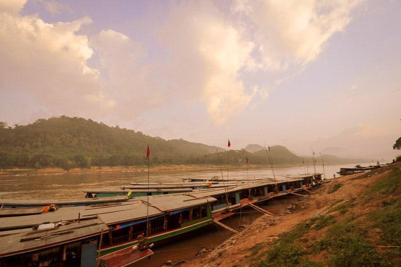 Beautiful Riverside View in Laos