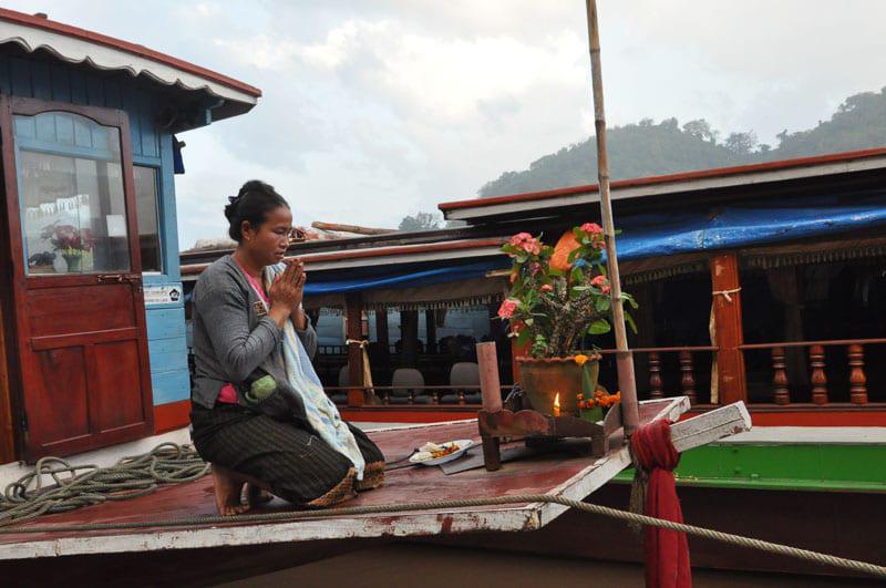 Praying Lady in Laos