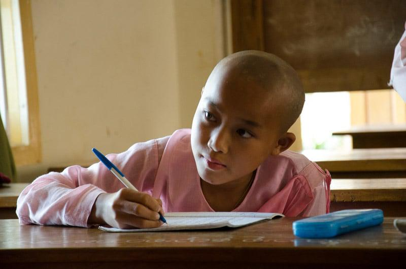 Studying Boy in Myanmar