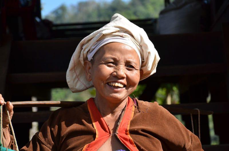 Native Woman in Myanmar
