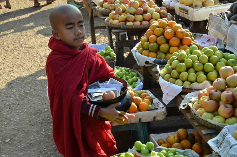 Boy in a Myanmar Market