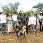 Hidden Places group with rangers in Tanzania