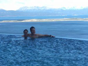 Hottub view Ushuaia